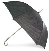 Product Image. Title: Black Quotes Stick Umbrella with Metal Handle