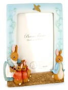 Product Image. Title: Peter Rabbit Sculpted Resin Picture Frame 4 x 6