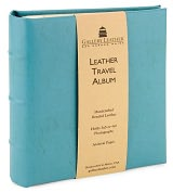 Product Image. Title: Turquoise Leather Travel Photo Album