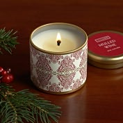 Product Image. Title: Mulled Wine Mini Pillow Tin Candle