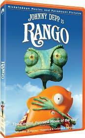 Rango starring Johnny Depp: DVD Cover