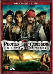 Pirates of the Caribbean: On Stranger Tides starring Johnny Depp: DVD Cover