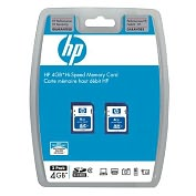 Product Image. Title: HP 4GB Secure Digital Card - (Twin Pack)