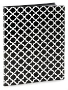 Product Image. Title: Quatrefoil Black &amp; White Presentation Book-PVC