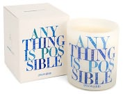 Product Image. Title: Quotable Candle Anything is possible