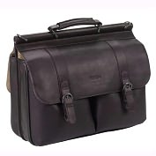 "Product Image. Title: 15.6"" Leather Laptop Portfolio"