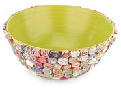 Product Image. Title: Recycled Paper Spirals Bowl - Green