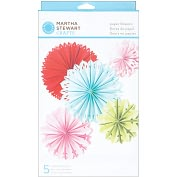 Product Image. Title: Modern Festive Paper Flowers Kit - Makes 5