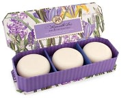Product Image. Title: Hyacinth Iris Guest Soap - Set of 3