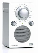 Product Image. Title: Tivoli Audio PALIPAL PAL Silver Cabinet/Gloss White Face