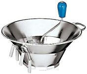 "Product Image. Title: Paderno World Cuisine Sieve for 5 Qt. Stainless Steel Food Mill with 3/32"" Perforations"