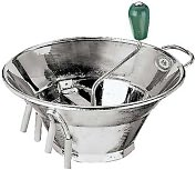 "Product Image. Title: Paderno World Cuisine Sieve for 5 Qt. Tin Food Mill with 1/16"" Perforations"