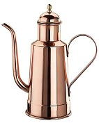 "Product Image. Title: Paderno World Cuisine 10 5/8"" High Copper/Tin Oil Dispenser"