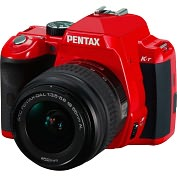 Product Image. Title: Pentax K-r 12.4 Megapixel Digital SLR Camera (Body with Lens Kit) - 18 mm - 55 mm - Red