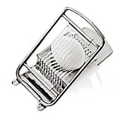 "Product Image. Title: Paderno World Cuisine 2 1/2"" Dia. Stainless Steel Egg Slicer"