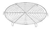 "Product Image. Title: Paderno World Cuisine 8 5/8"" Chromed Round Cooling Rack"