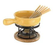 Product Image. Title: Paderno World Cuisine Ceramic Cheese Fondue Set