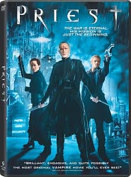 Priest starring Paul Bettany: DVD Cover