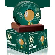 Product Image. Title: Oakland Athletics Coasters with Game Used Dirt - Set of 4