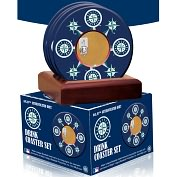 Product Image. Title: Seattle Mariners Coasters with Game Used Dirt - Set of 4