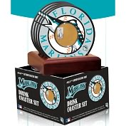 Product Image. Title: Florida Marlins Coasters with Game Used Dirt - Set of 4