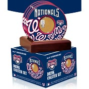 Product Image. Title: Washington Nationals Coasters with Game Used Dirt - Set of 4
