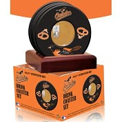 Product Image. Title: Baltimore Orioles Coasters with Game Used Dirt - Set of 4