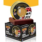 Product Image. Title: Pittsburgh Pirates Coasters with Game Used Dirt - Set of 4