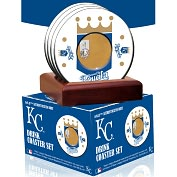 Product Image. Title: Kansas City Royals Coasters with Game Used Dirt - Set of 4