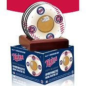 Product Image. Title: Minnesota Twins Inaugural Season Coasters with Game Used Dirt - Set of 4