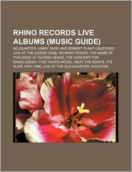 Rhino Records Live Albums : No Quarter: Jimmy Page and
