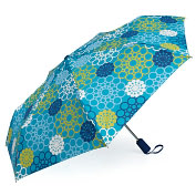 Product Image. Title: Jonathan Adler Meadow Mosaic Blue Teal Umbrella (40.5 Dia)