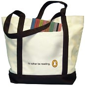 Product Image. Title: I'd Rather Be Reading Tote Bag