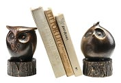 Product Image. Title: Wide-Eyed Owl Bookends