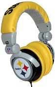 Product Image. Title: NFL Licensed Pittsburgh Steelers DJ Style Headphones