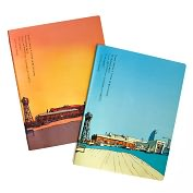 Product Image. Title: Moleskine Cover Art Squared Journal by Ricardo Cabral, Set of 2