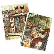 Product Image. Title: Moleskine Cover Art Ruled Journal by Paul Wang, Set of 2