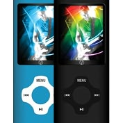 Product Image. Title: Visual Land Rave VL-677 8 GB Blue Flash Portable Media Player