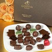 Product Image. Title: Godiva 27 Piece Dark Chocolate Assortment