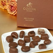 Product Image. Title: Godiva 15 Piece Milk Chocolate Assortment