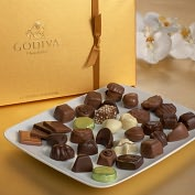 Product Image. Title: Godiva 36 Piece Gold Ballotin Assortment