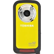 Product Image. Title: Toshiba Camileo BW10 Digital Camcorder - 2&quot; LCD - CMOS - Full HD - Yellow