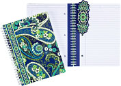 Product Image. Title: Vera Bradley Rhythm & Blues Spiral Notebook Journal (6x8)