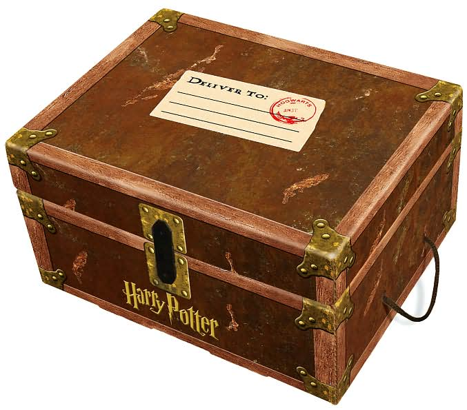 Harry Potter Book Trunk ~ Harry potter hardcover boxed set ebay party invitations