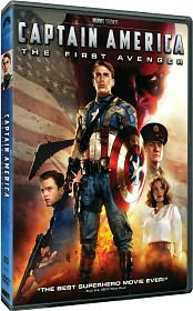 Captain America: The First Avenger starring Chris Evans: DVD Cover