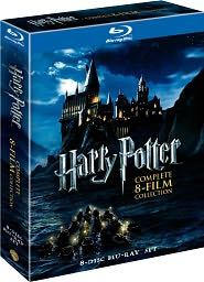 Harry Potter - Complete 8-Film Collection starring Daniel Radcliffe: Blu-ray Cover