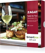 Product Image. Title: Zagat Table for Two Gift Card - Washington D.C. Edition