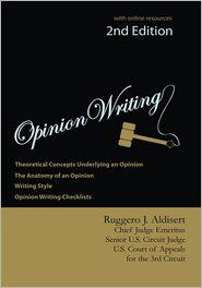 Ruggero J. Aldisert - Opinion Writing 2nd Edition