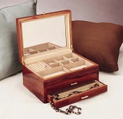 Product Image. Title: Handcrafted Rosewood Jewelry Chest