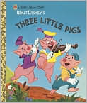 Book Cover Image. Title: Three Little Pigs, Author: by Golden Books